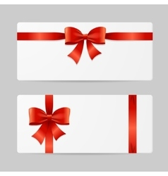 Gift Card Template with Ribbon vector image vector image