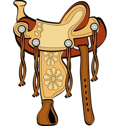 Horse Saddle vector image vector image