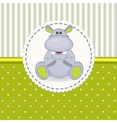 Little hippopotamus baby vector