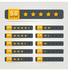 Rating stars badges vector image