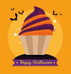 sweet candy happy halloween vector image