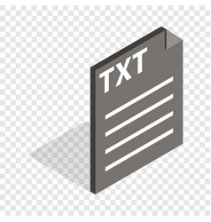 document file format txt isometric icon vector image
