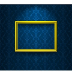 Frame on the blue wall vector image