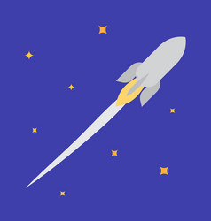 jet rocket in open space vector image vector image