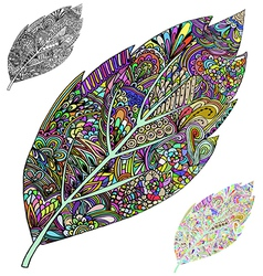 tree leaf vector image vector image
