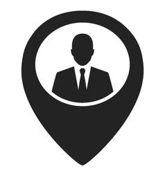 businessman black web pointer icon vector image vector image