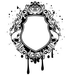 horror framework vector image vector image