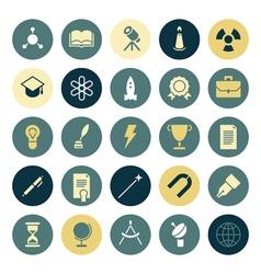 icons plain round education vector image