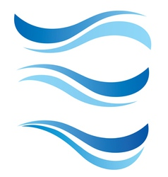 water waves design elements vector image