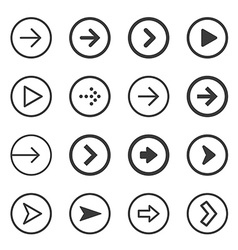 Clean and modern arrows sign icon set vector image vector image