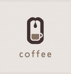 coffee machine logo vector image