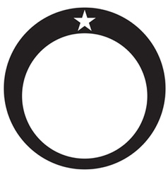 Diamond ring star vector