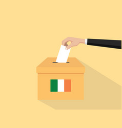 Ireland election vote concept with vector