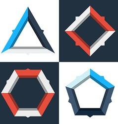 Modern geometric infographics diagrams vector image vector image