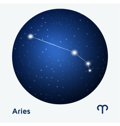 Aries constellation vector image