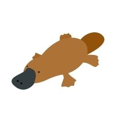 Australian platypus icon isometric 3d style vector