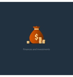 Award money prize for win rich and wealthy finance vector