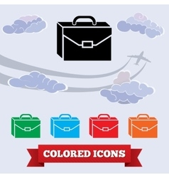 Baggage icon Hand luggage traveling symbol vector