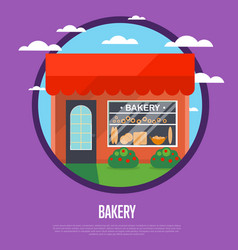 Bakery shop banner in flat design vector
