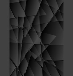 black abstract tech polygonal fragments background vector image