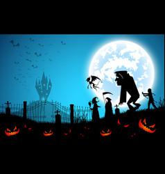 blue backgroundfestival halloween conceptfull vector image