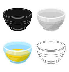 Bowl of oilolives single icon in cartoon style vector