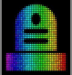Bright pixel grave icon vector