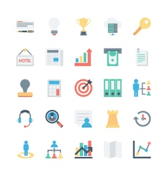 Business and Office Colored Icons 3 vector image