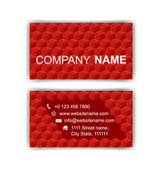 Business card template editable neat red cubes vector
