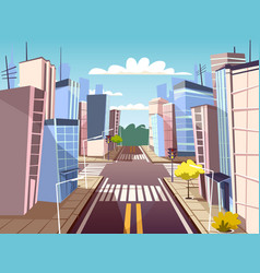 Cartoon urban crossroad concept vector