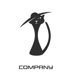 cat lady logo vector image