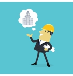 Character of Architect with a New Project vector image