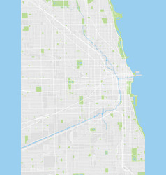 Chicago colored map vector