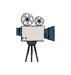 Cinema camcorder technology vector