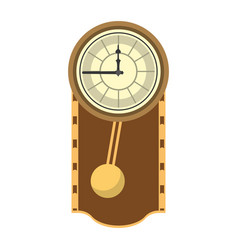 Cirrus oak wall clock design vector