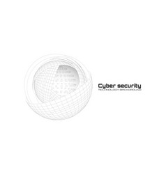 cyber security and information protection protect vector image