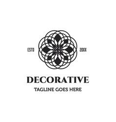 Decorative flower symbol logo vector