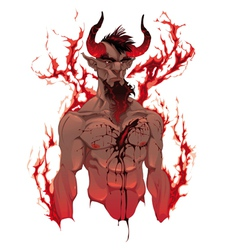 Devil Demons portrait vector