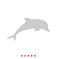 Dolphin it is icon vector
