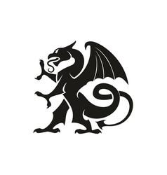 Dragon gryphon isolated heraldry beast animal vector