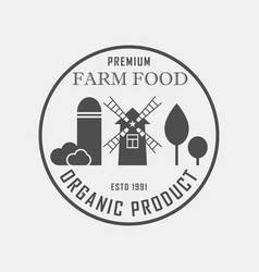 farm food concept logo template with farm vector image