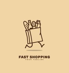 fast shopping logo vector image