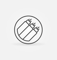 Fiber optic in circle concept icon in thin vector