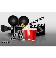 Film popcorn and drink vector image