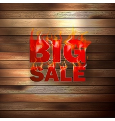 Fire Sale for hot flame design vector