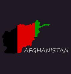Flag of islamic republic of afghanistan overlaid vector