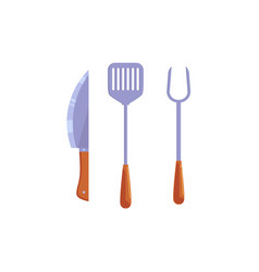 flat kitchen paddle spatula knife icon vector image