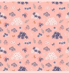 flowers blooming garden seamless pattern vector image