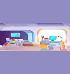 futuristic bedroom furniture apartment design vector image