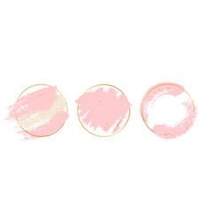 gold pink background circle frames vector image